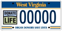 Organ Donor license plate form